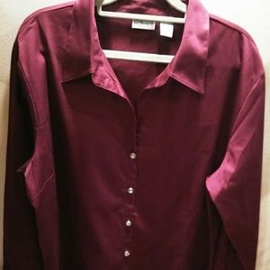 Long sleeved Wine colored Shirt